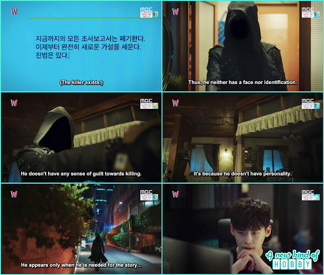 kang chul thinking and writing about killer - W - Episode 8 Review