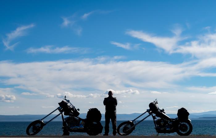 Chopper Harley Davidson moottoripyörä Norja moottoripyöräily reissu
