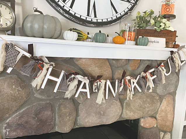 Thanksgiving rag banner