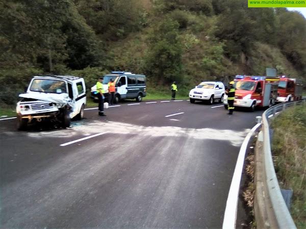Accidente ayer en la carretera de La Cumbre