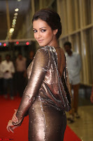 Actress Catherine Tresa in Golden Skin Tight Backless Gown at Gautam Nanda music launchi ~ Exclusive Celebrities Galleries 045.JPG