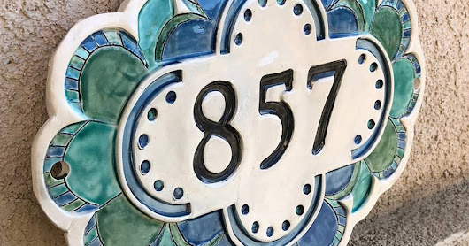 Unique Handmade Address Plaques - Address Signs - Specialty Home Address - New Home Address - Address Numbers
