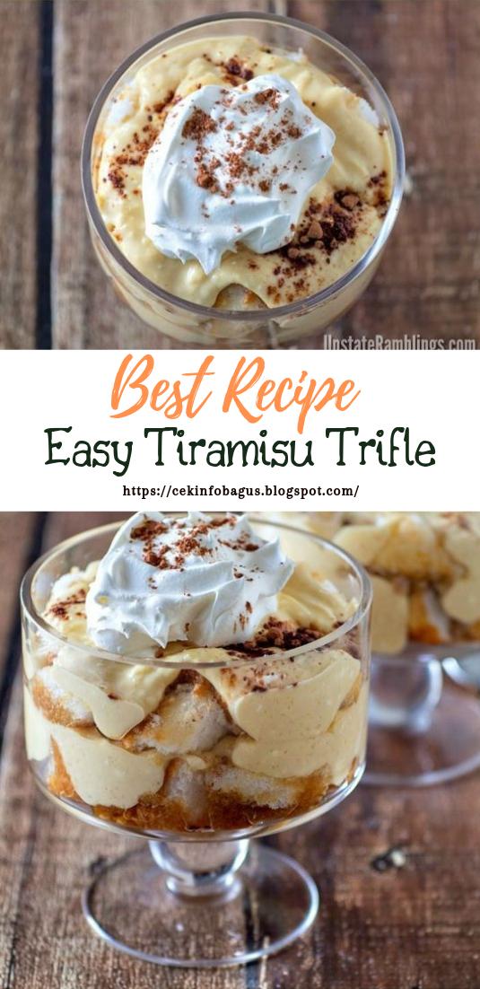 Easy Tiramisu Trifle #desserts #cakerecipe #chocolate
