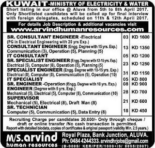 Ministry of Electricity & Water Kuwait jobs