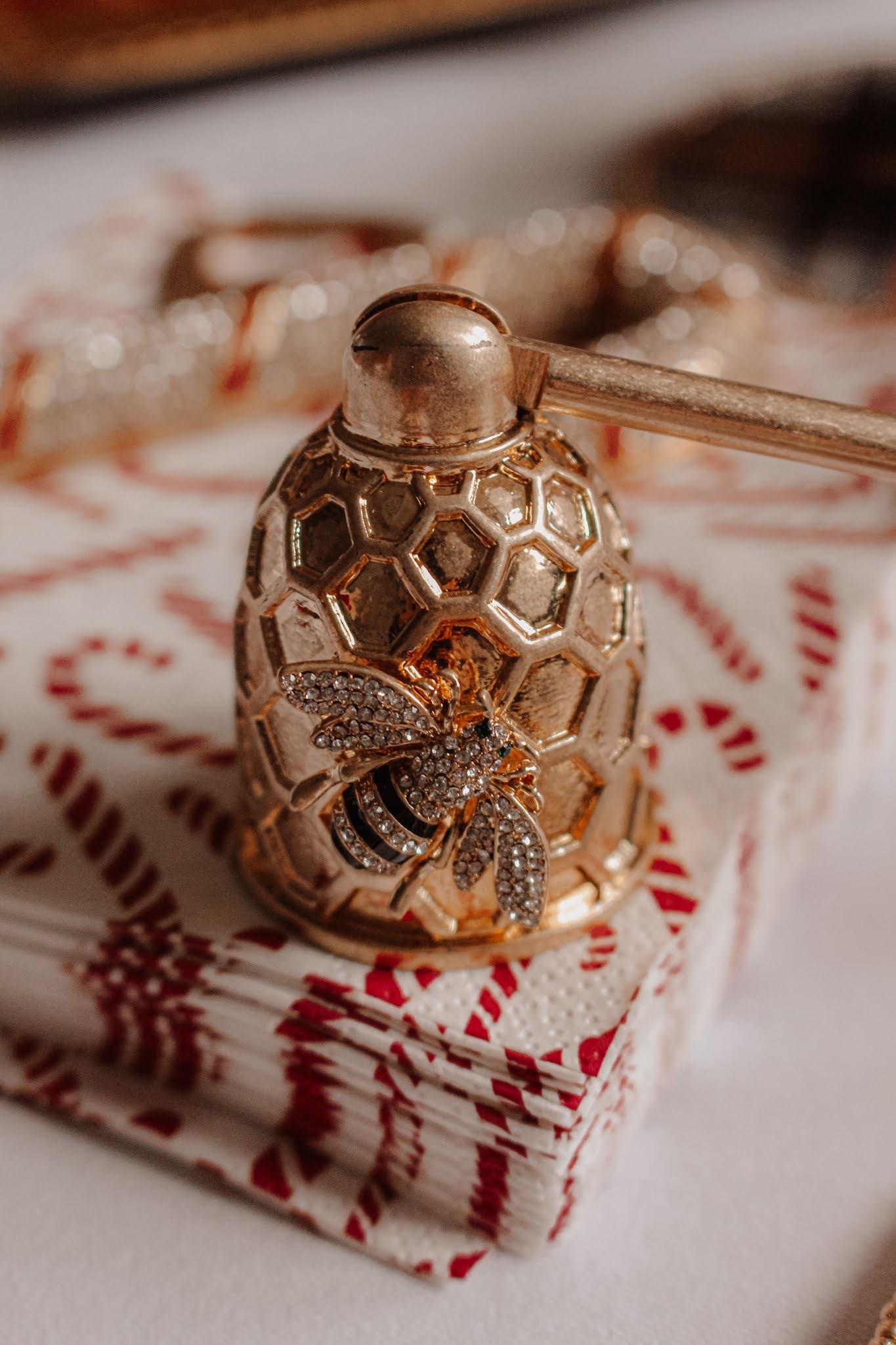 Joanna Buchanan Gold Bee Candle Snuffer