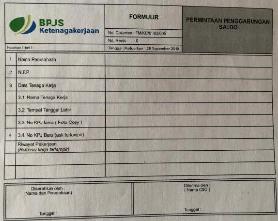 Cara Menggabungkan Saldo 2 Kartu Bpjs Ketenagakerjaan Bpjtk Tidak Bisa Online Pasien Bpjs
