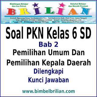 Download Soal PKN Kelas 6 SD Bab 2 Pemilihan Umum dan Pemilihan Kepala Daerah dan Kunci Jawaban