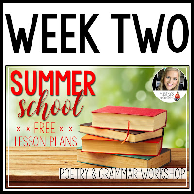 Summer School-Week Two-Free Lesson Plans for 7th Grade ELA