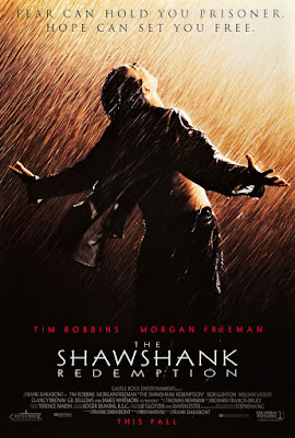 Movie poster for Columbia Pictures and Castle Rock Entertainment's 1994 Best Picture winning film The Shawshank Redemption, starring Tim Robbins and Morgan Freeman