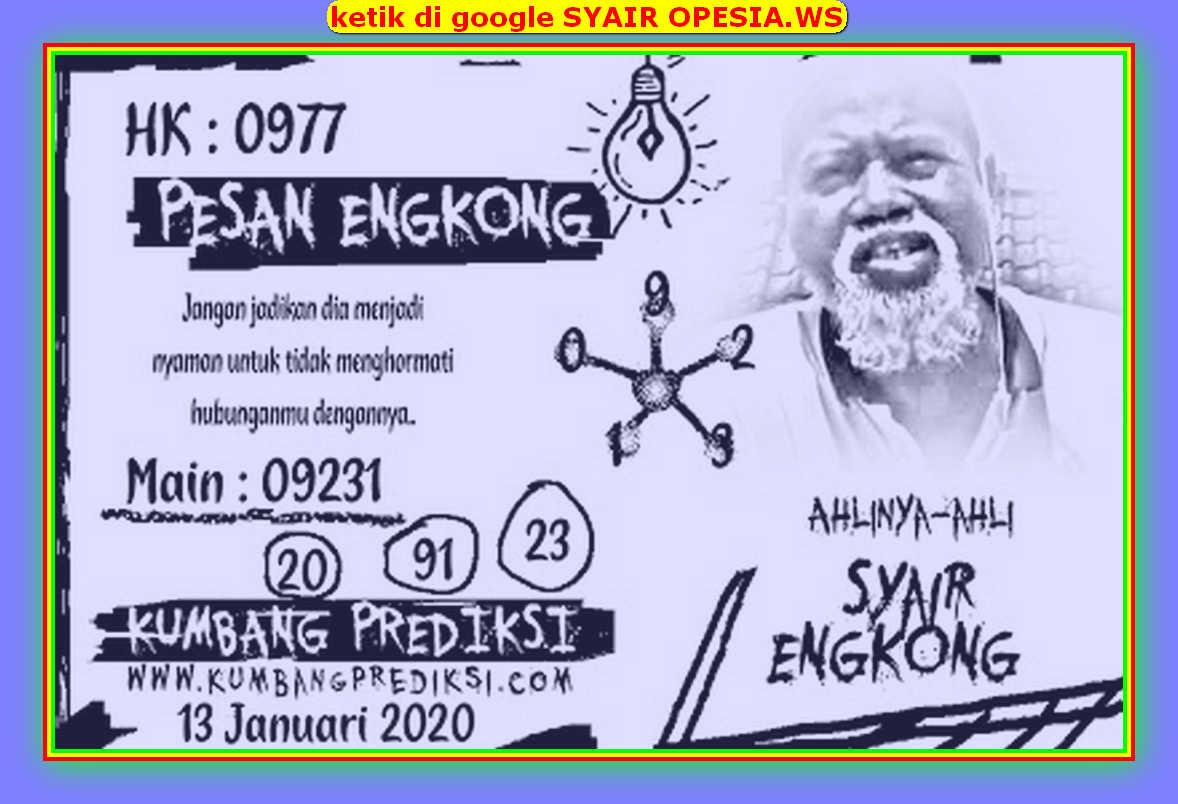 Kode syair Hongkong Senin 13 Januari 2020 97