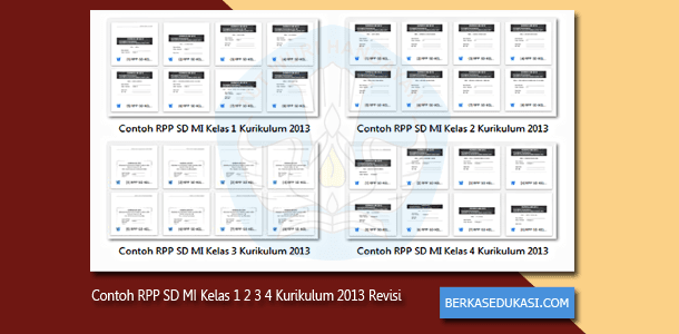 Contoh RPP SD MI Kelas 1 2 3 4 Kurikulum 2013 Revisi 2019-2020