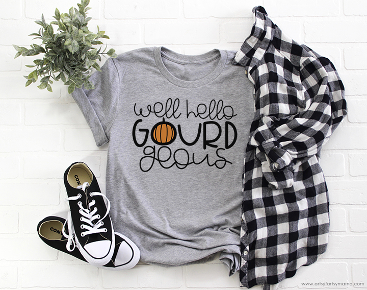 Hello Gourd-geous Shirt with 14 Free Thanksgiving Cut Files