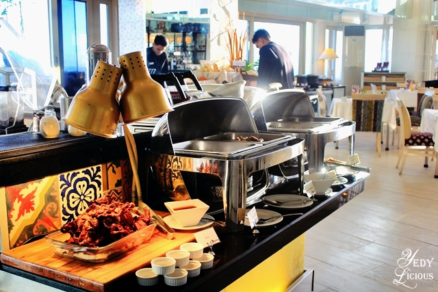 Hot Dishes at the Breakfast Buffet of The Nest at Vivere Hotel