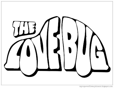 free coloring page The Love Bug