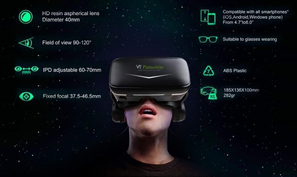 نظارة الواقع الافتراضي Pansonite Vr