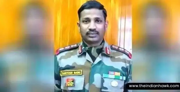 An image of Colonel Santosh Babu, He was killed in Galwan Clash