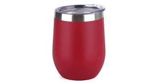 Double Wall Vacuum Insulated Travel Wine Tumbler with Lid