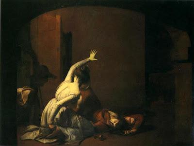 La Scène du tombeau, par Joseph Wright of Derby (1790).