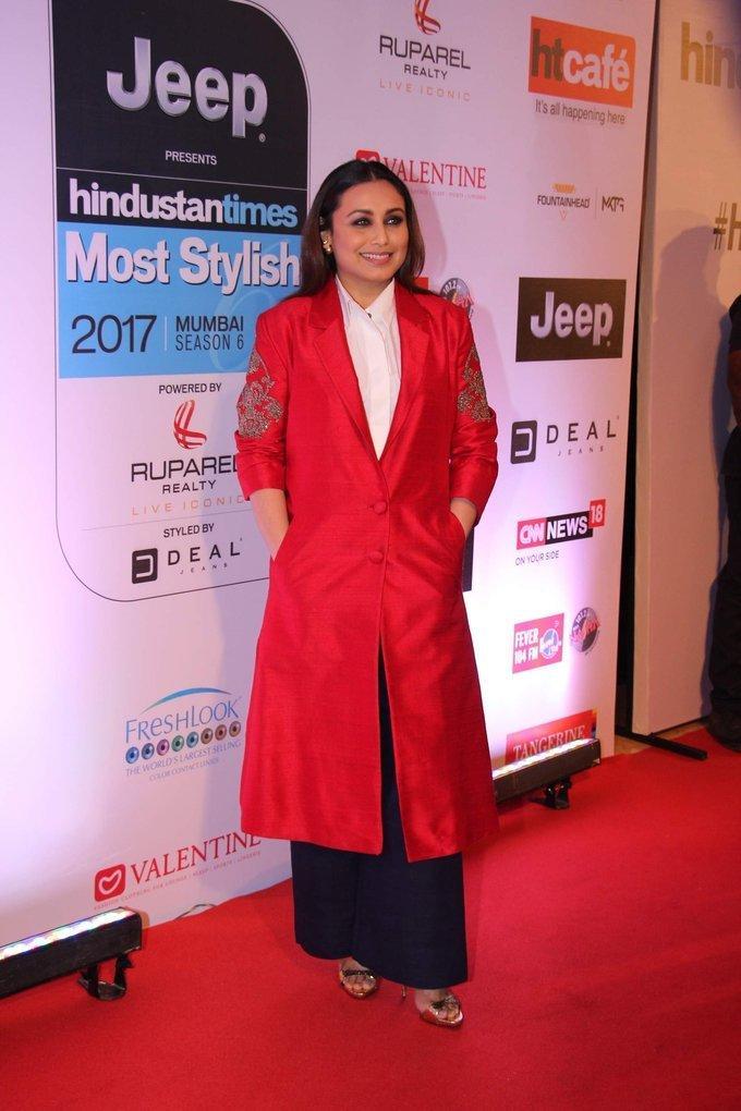 Indian Actress Rani Mukerji At HT Most Stylish Awards 2017