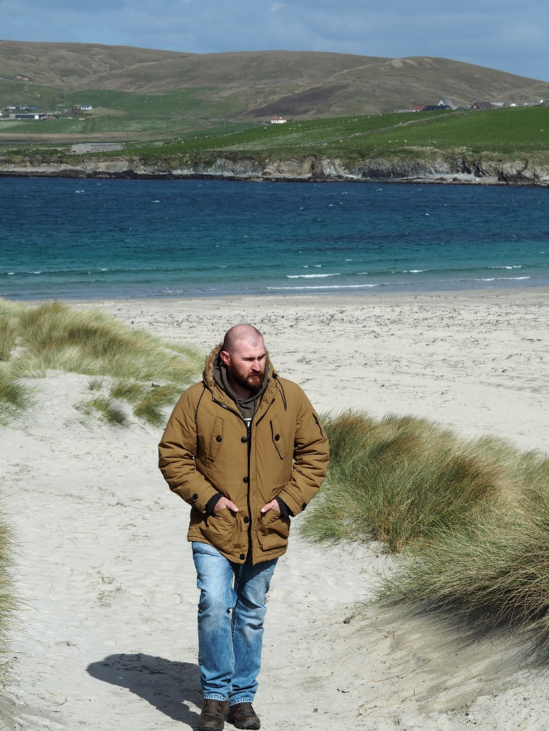 Gordon at St Ninian's Isle