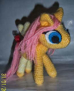 Пони Флаттершай - герой мультфильма Мой маленький пони крючком