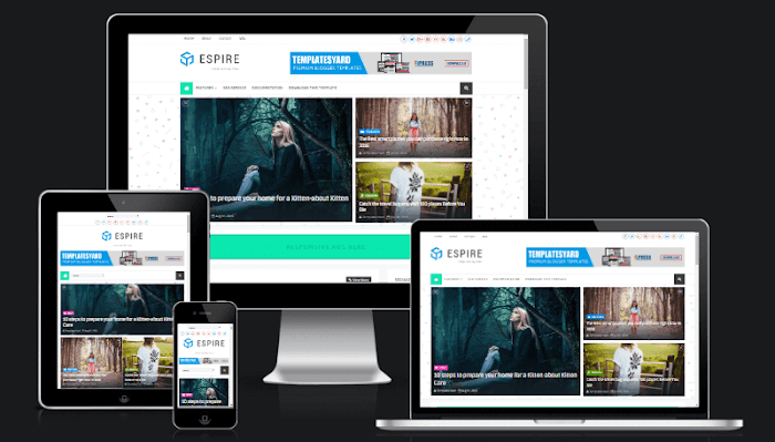 Espire Blogger template responsive best layout