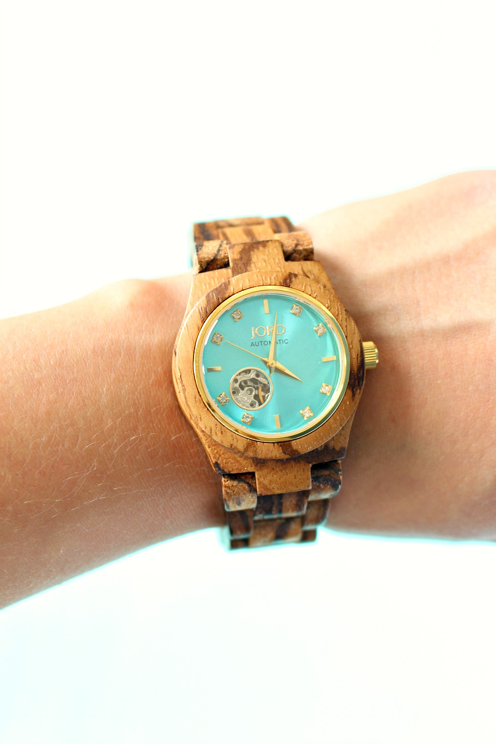 JORD Wood Watch Review - Turquoise and Wood Watch