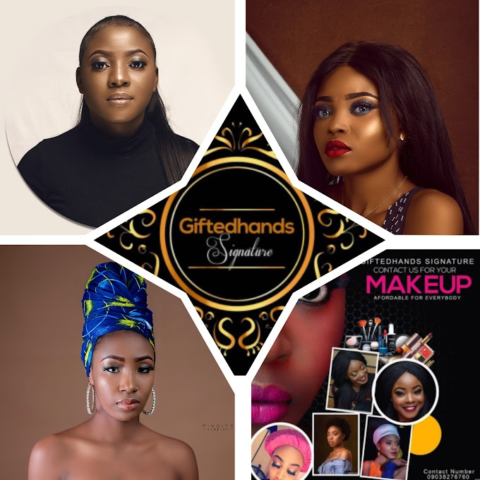 """CHECK OUT THE BEST MAKE-UP ARTIST TRENDING IN NIGERIA RIGHT NOW """"GIFTED HANDS SIGNATURE"""""""