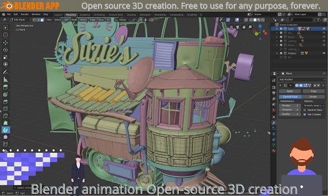 Blender animation Open-source 3D creation