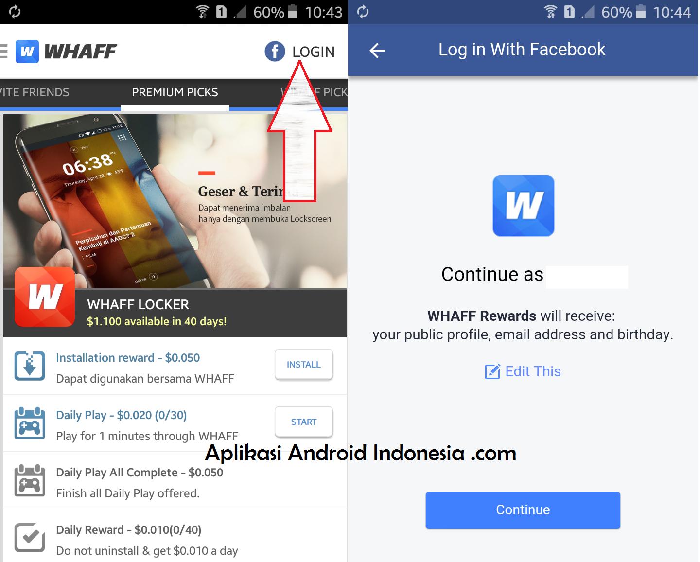Cara Mendapatkan Pulsa Gratis Dengan Aplikasi Android Whaff