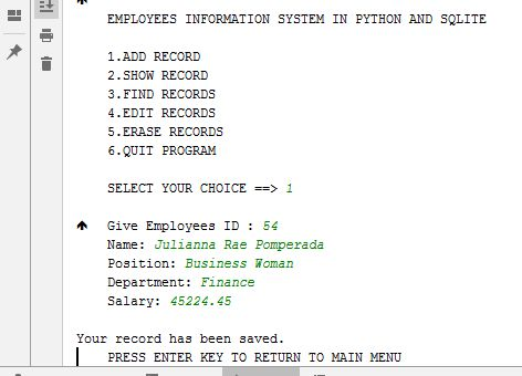Free Programming Source Codes To All: EMPLOYEES INFORMATION
