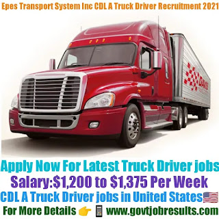 Epes Transport System Inc CDL A Truck Driver Recruitment 2021-22