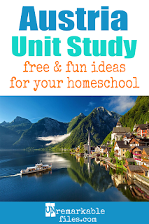 This Austria unit study is packed with activities, crafts, book lists, and recipes for kids of all ages! Make learning about Austria in your homeschool even more fun with these free ideas and resources. #austria #homeschool #vienna #unitstudy