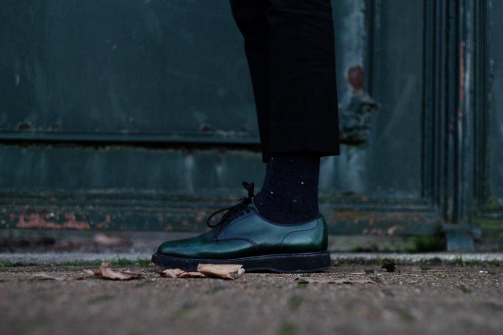 Chaussures en cuir vert Church's Leyton compensees