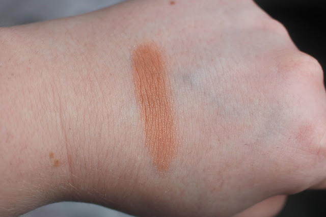 Photo of Swatch of Afterglow 8-hour Blush in Kinky from the Urban Decay Goodie Bag