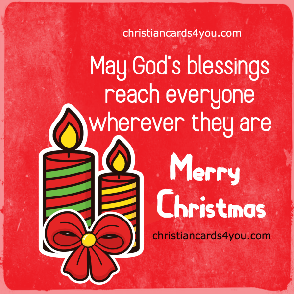 nice red card merry christmas image for friends and family blessings