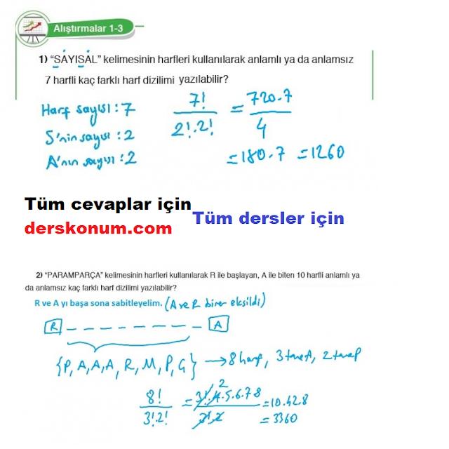 10. Sınıf Matematik Kitap Cevapları Anka Kuşu Yayınları Sayfa 30