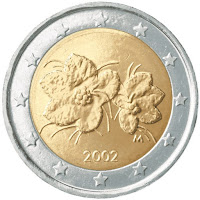 Suomi 2 euroa 2002 kolikko