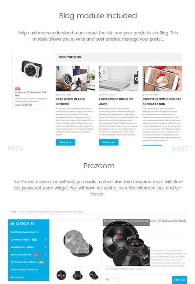 Electronics Business - Responsive Magento Theme
