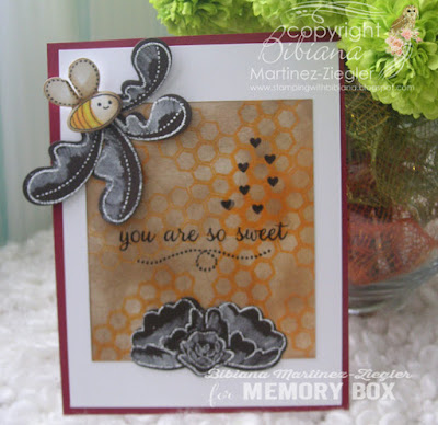 bee card with archival resist front