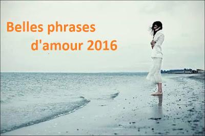 Belles phrases d'amour 2016