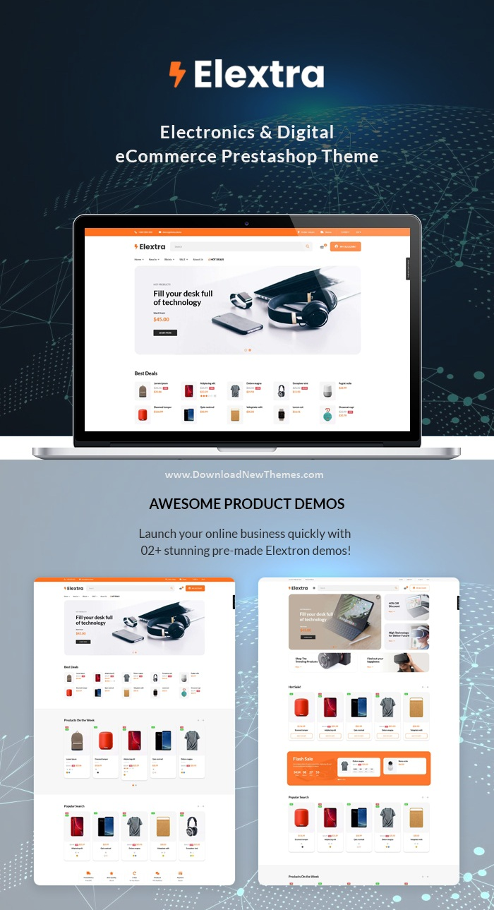 Multipurpose Prestashop Electronics Theme