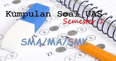 Soal UAS Bahasa Arab MA Kelas 10 11 12 Semester 1