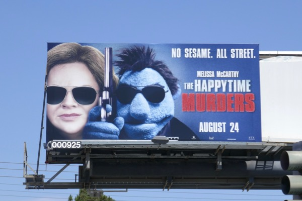 Happytime Murders movie billboard