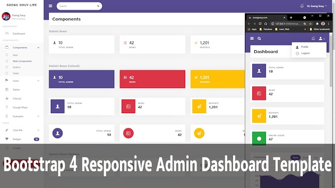Bootstrap 4 Responsive Admin Dashboard Template