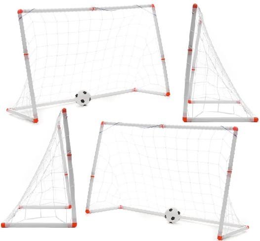 Mini Goalpost Soccer Set: Foot-Ball Goal Training Kit for Junior Players