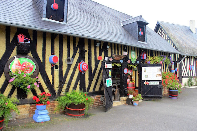 Apple and cider farm in Normandy, France