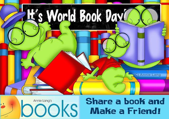 Share a Book and make a friend on World Book Day with Annie Lang at https://www.annielangsbooks.com/