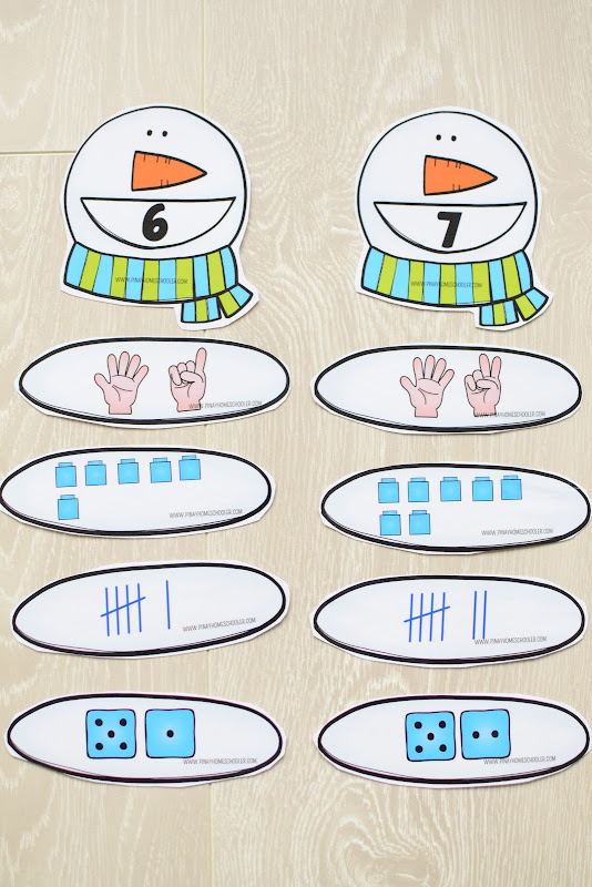 Winter Theme Learning Pack: Number Representation