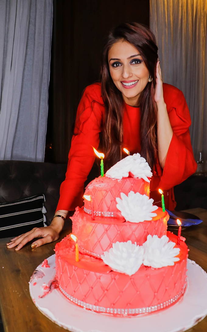 Birthday Girl Aarti Chabria Birthday Party Photos In Red Dress